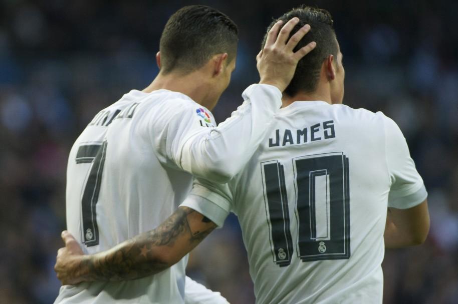 James y Cristiano Ronaldo