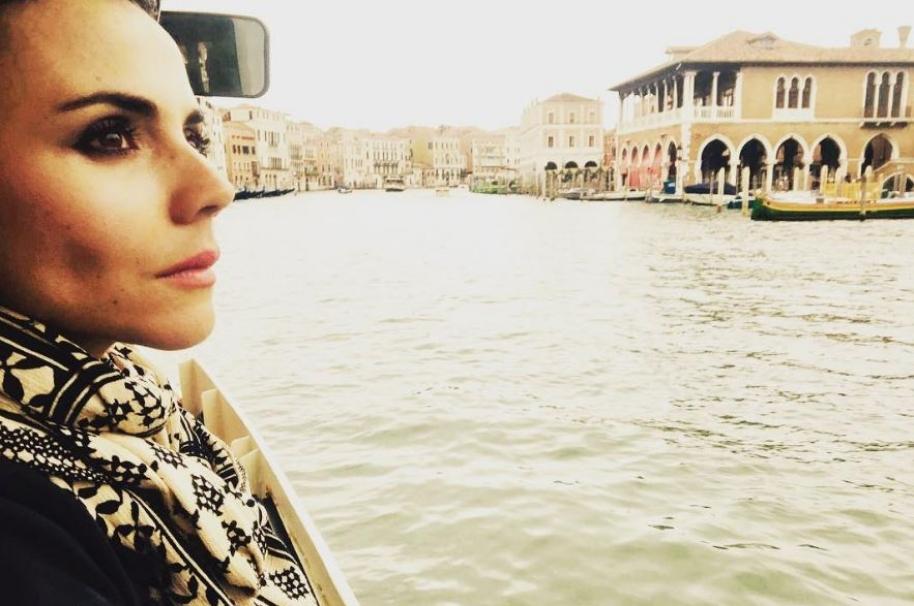 La actriz Carolina Gaitán en Venecia.