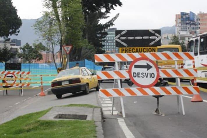 Cierres viales en Bogotá ilustración