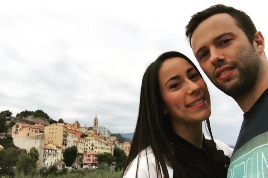 La bicicrosista Mariana Pajón y su prometido Vincent Pelluard.
