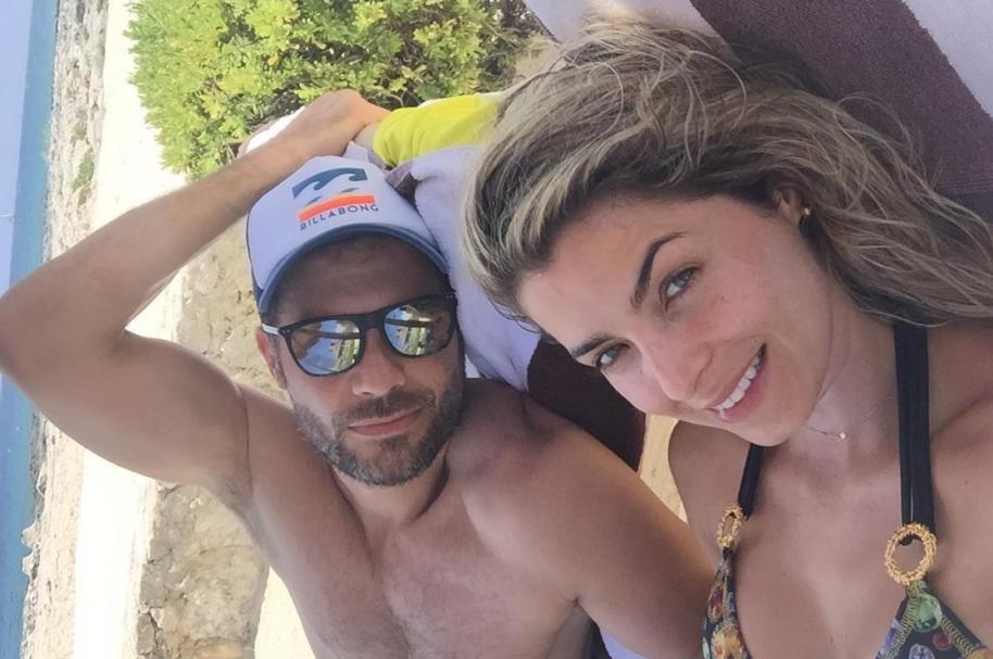 El actor Josse Narváez y su esposa, la presentadora de RCN Cristina Hurtado.