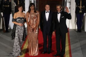 Michelle Obama en la Cena de Estado Anual