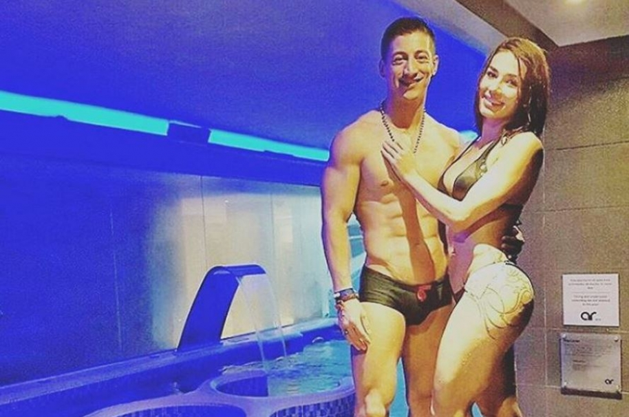 Los participantes del 'Desafío súper humanos' Eduard Salas, alias 'Ninja' y Carolina Rodríguez,  conocidad como 'K' o 'Karoline.