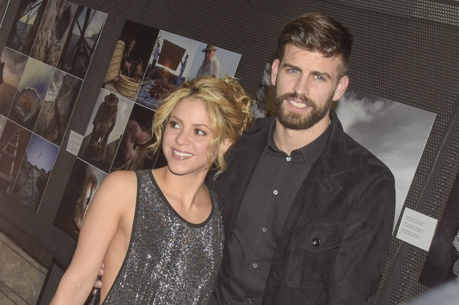 La cantante Shakira y su pareja, el futbolista del Barcelona Gerard Piqué.