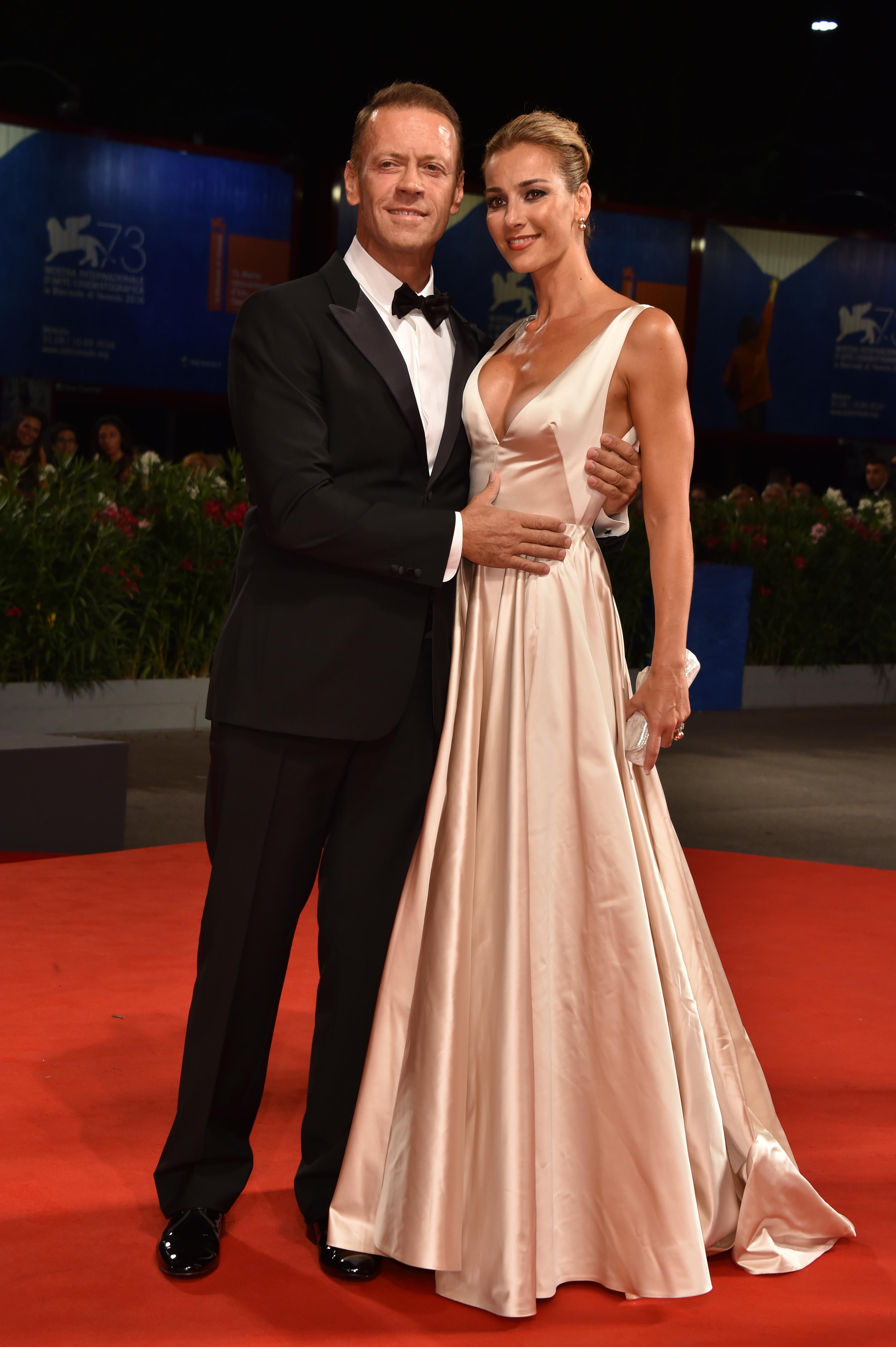 Rocco Siffredi y su esposa Rosa Caracciolo