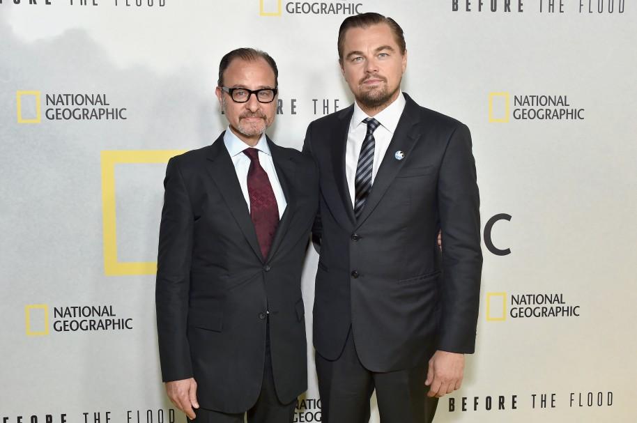 Fisher Stevens y Leonardo DiCaprio
