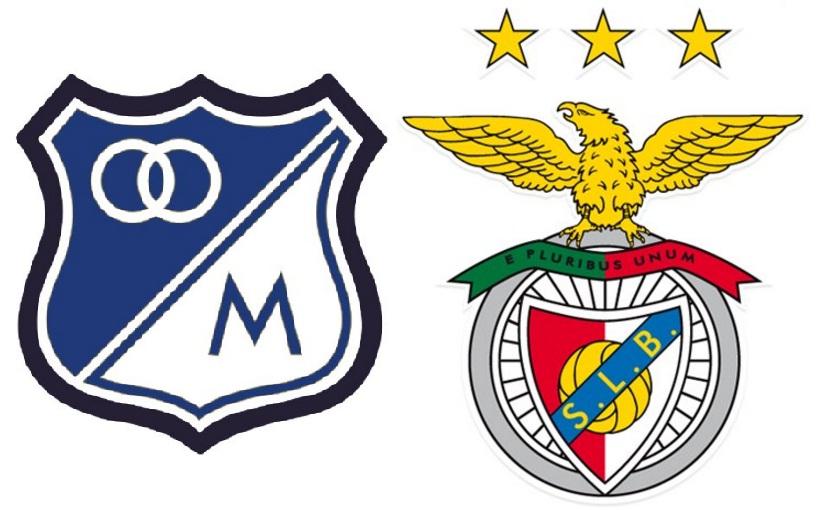 Escudos Millonarios y Benfica