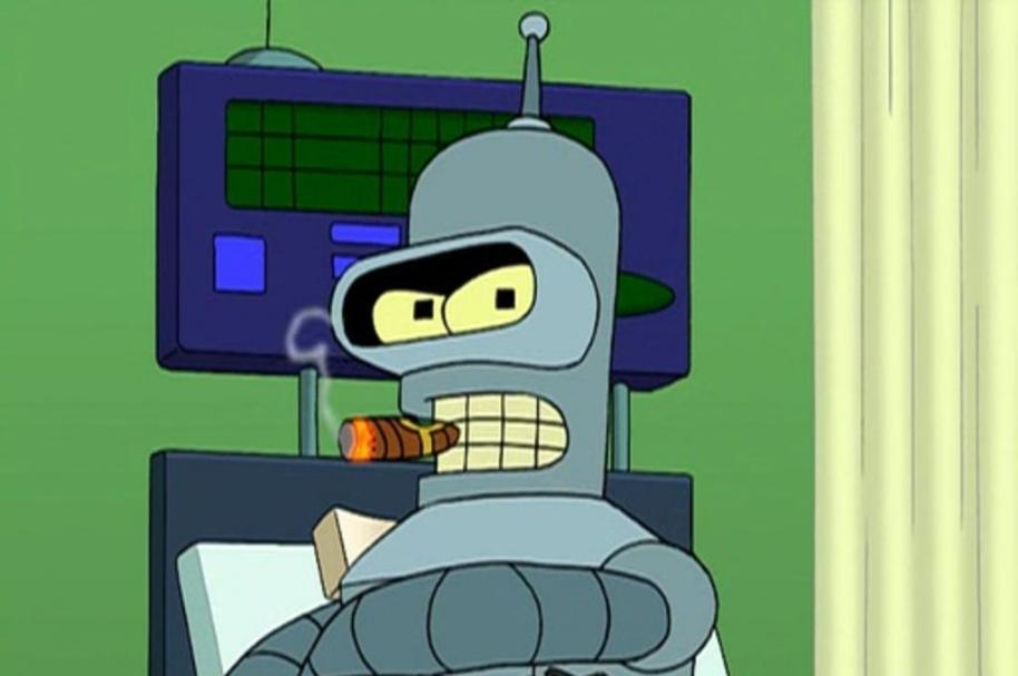 Robot fumador