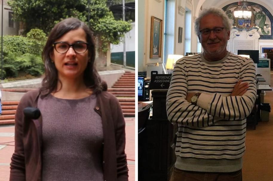 Carolina Sanín y Héctor Abad