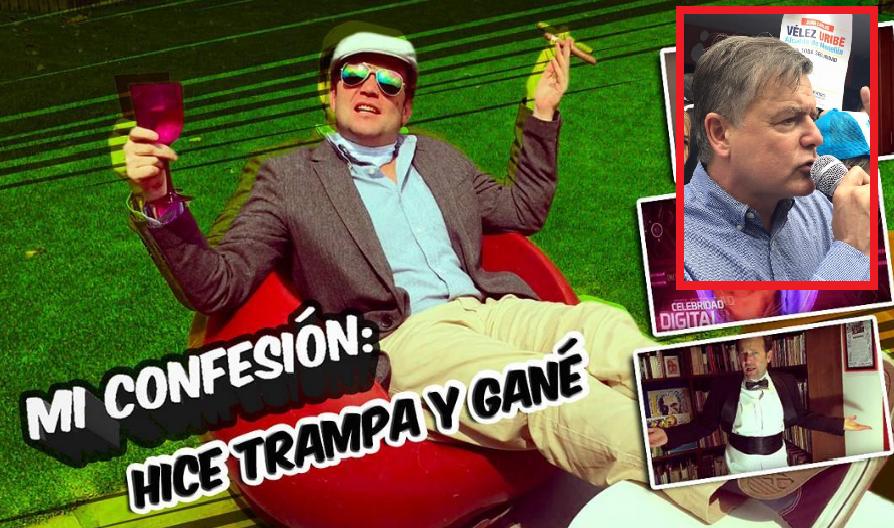 Daniel Samper, 'youtuber' de 'Hola soy Dani' y Juan Carlos Vélez Uribe, promotor uribista del 'No'.