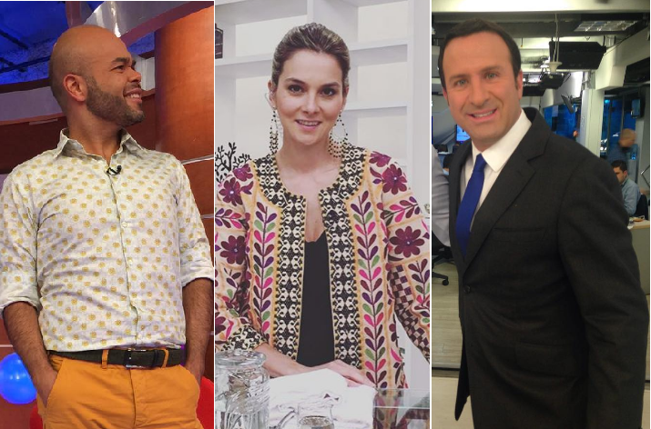 Carlos Vargas, Catalina Gómez y Felipe Arias, presentadores de 'La Red', 'Día a día' y Noticias RCN, respectivamente.