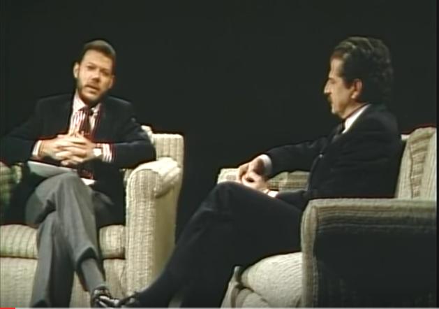Juan Manuel Santos entrevistando a Luis Carlos Galán.