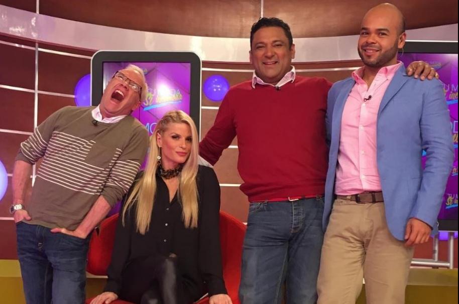 Carlos Giraldo, Mary Méndez, Frank Solano y Carlos Vargas, presentadores de 'La red'.