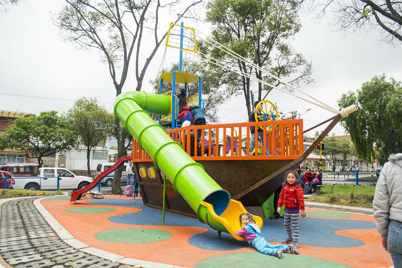 Parque con energía solar