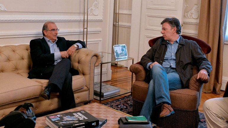 Presidente Santos y Humberto de la Calle