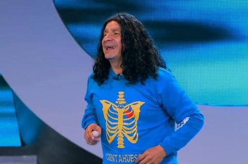 Juan Ricardo Lozano, más conocido como 'el cuenta huesos' o 'Alerta' de 'Sábados felices'.