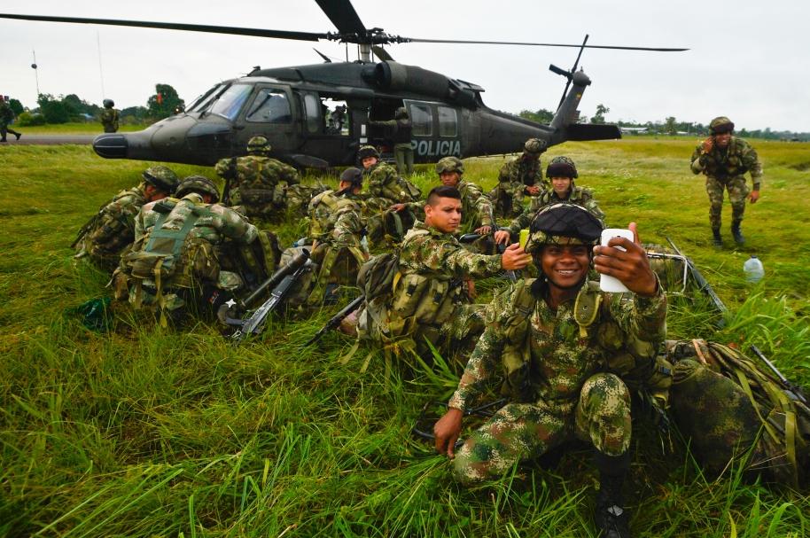 Militares colombianos