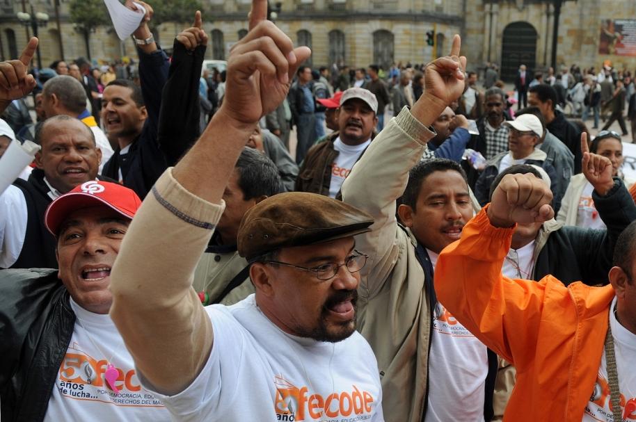 Paro de profesores en Colombia