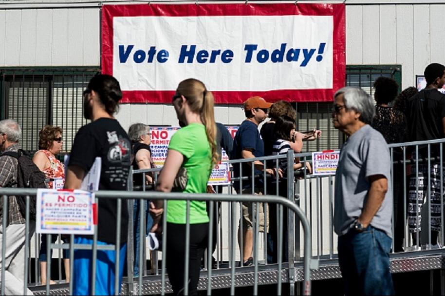 Día de elecciones en Estados Unidos.