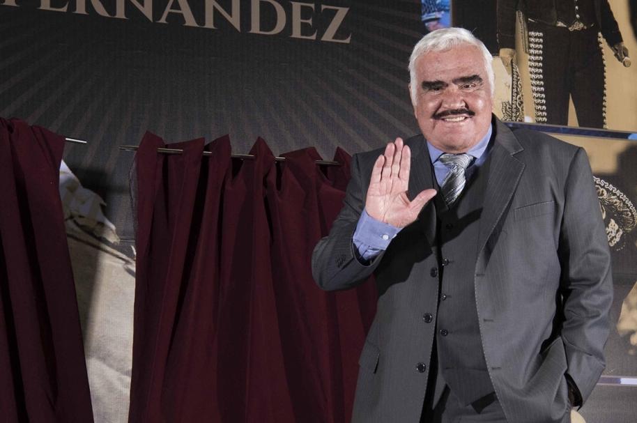 Vicente Fernández, cantante mexicano.