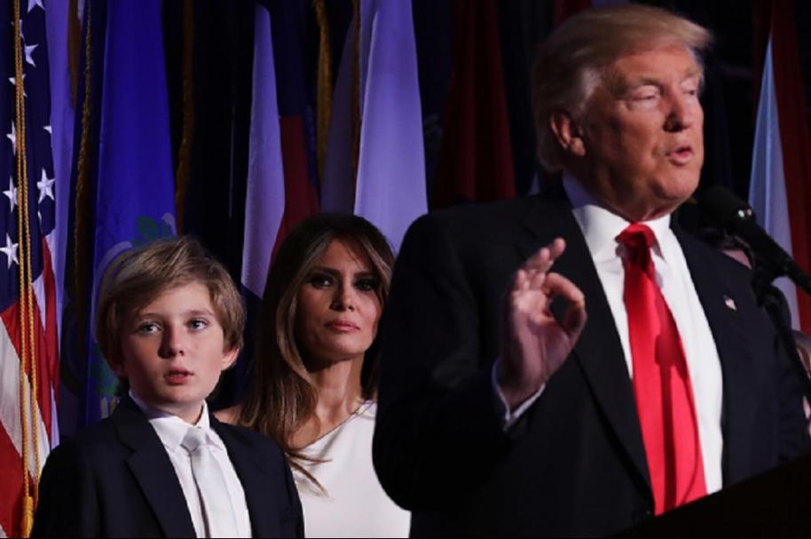Trump y familia