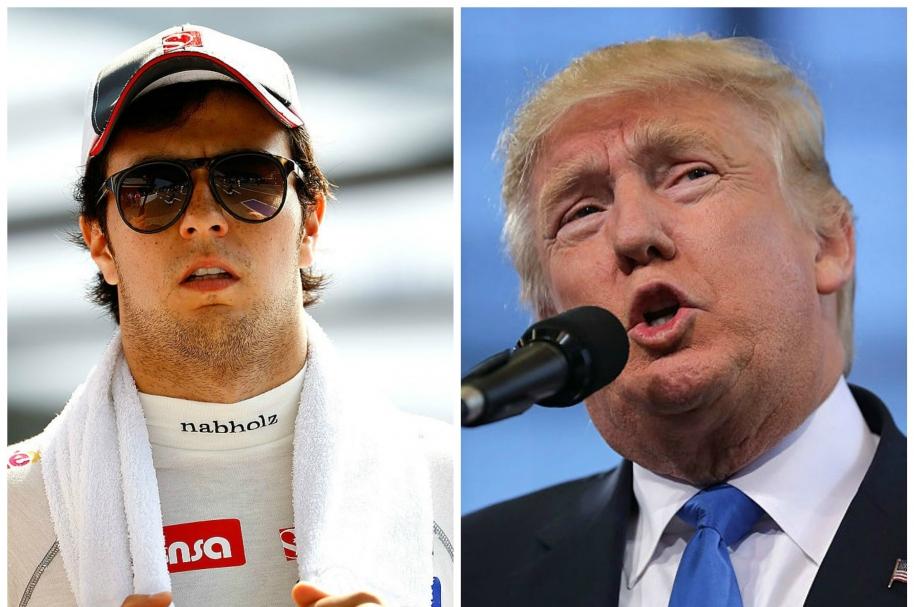Sergio 'Checo' Pérez y Donald Trump. Pulzo.com