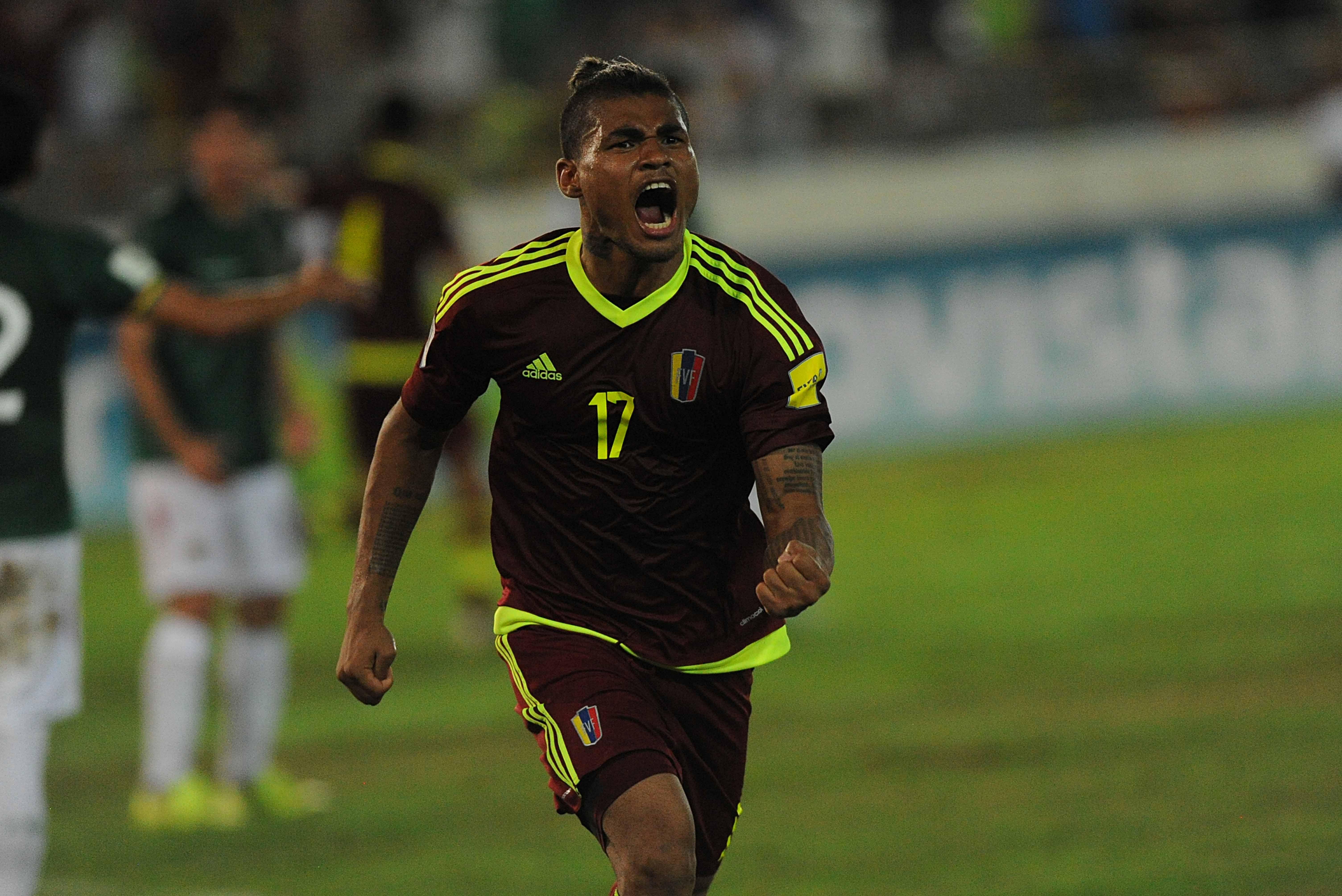 Josef Martínez marcó el primer triplete de un venezolano en eliminatorias