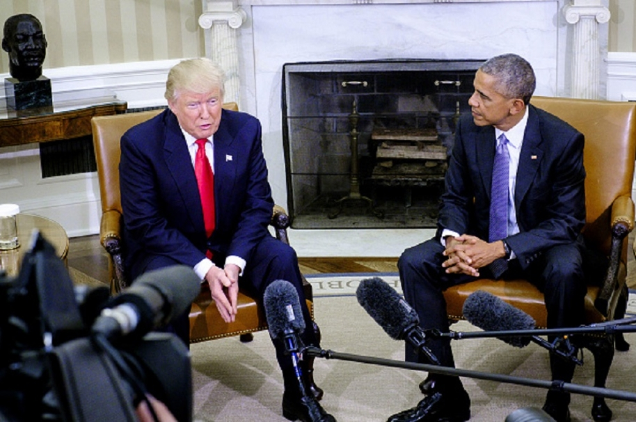 Trump y Obama.