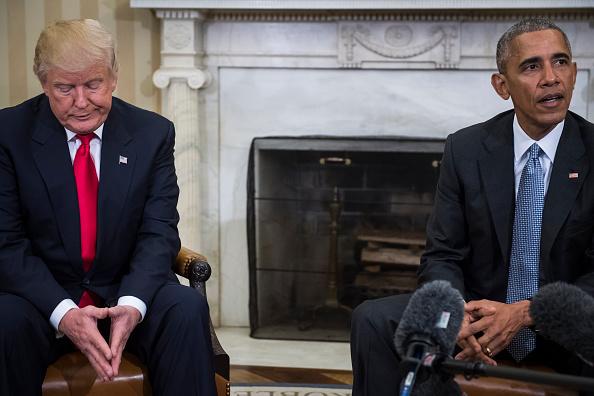 Encuentro Obama y Trump