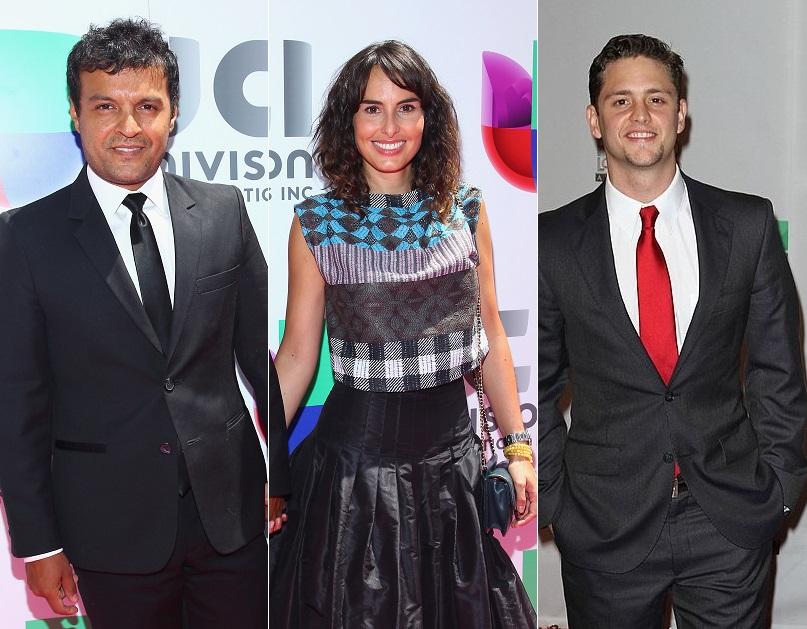 Los actores Julián Román, Ana Serradilla y Christopher Uckermann.