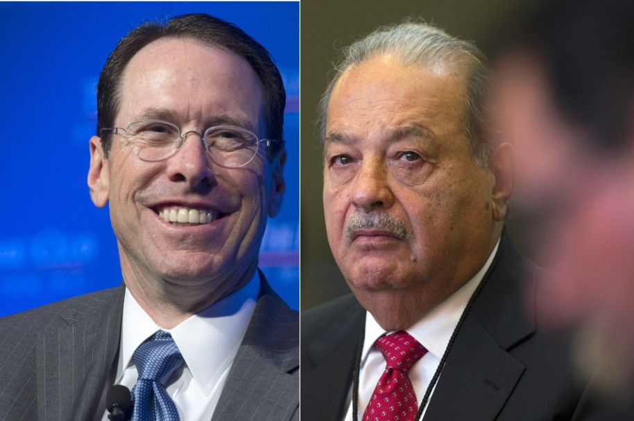 Carlos Slim y Randall Stephenson