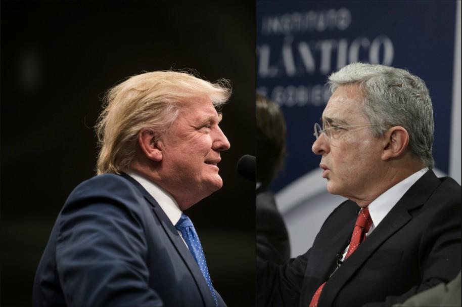Donald Trump y Álvaro Uribe
