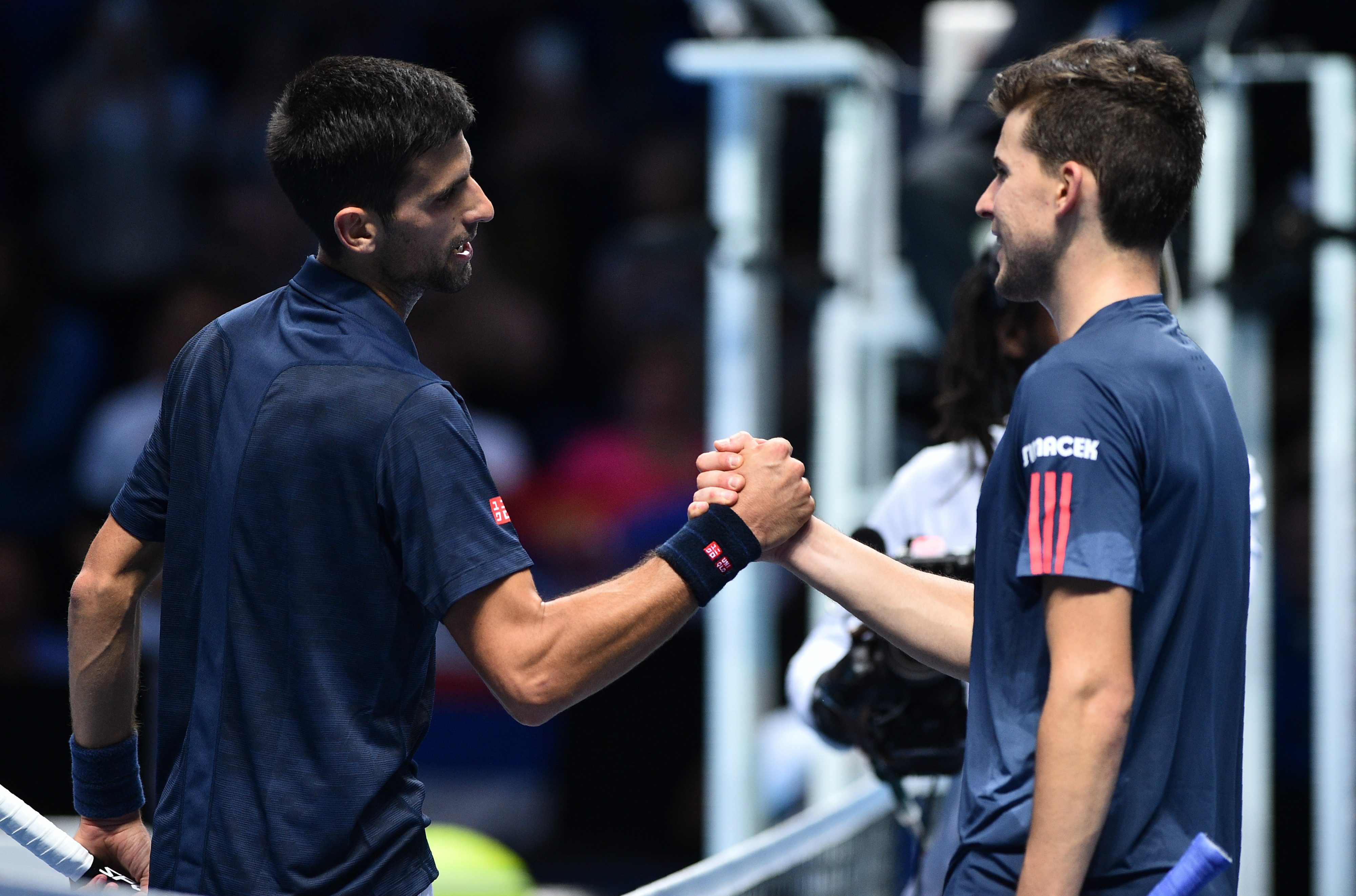 Novak Djokovic y Dominic Thiem