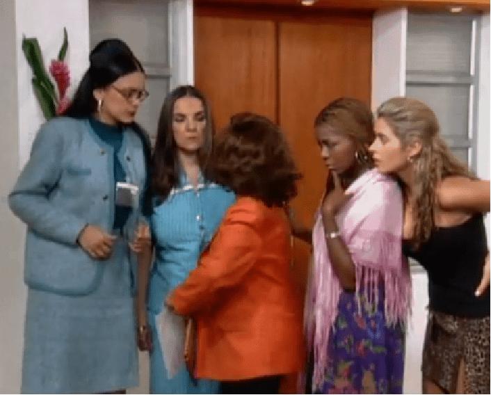 'La jirafa', Bertha, Sofía, Mariana y Aura María, del cuartel de las feas de 'Yo soy Betty, la fea'.