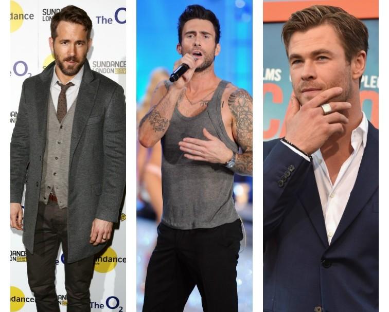 Ryan Reynolds, Adam Levine y Chris Hemsworth