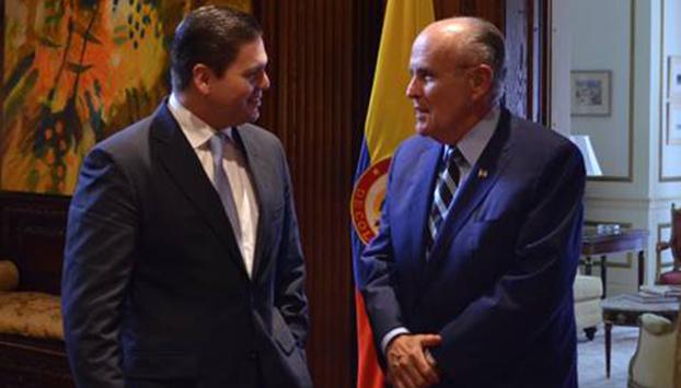 Juan Carlos Pinzón y Rudolph Giuliani