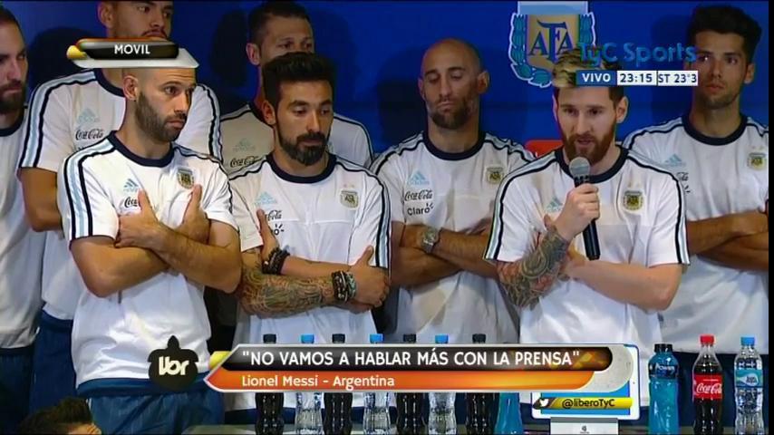 Lio Messi dice que los jugadores no hablarán más con la prensa