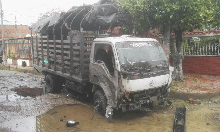 Camión atacado