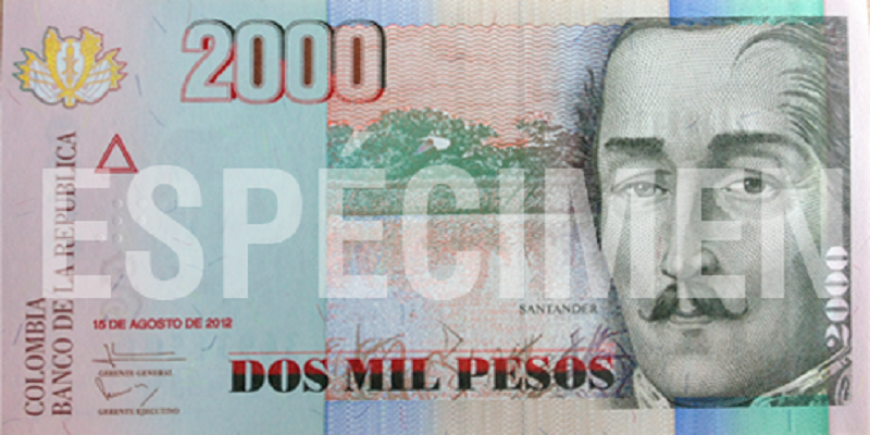 Billete 2.000 pesos actual