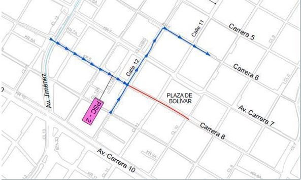 Mapa de desvíos autorizados por Salsa al Parque