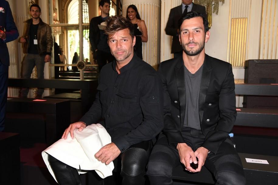 El cantante Ricky Martin y su novio Jwan Yosef.