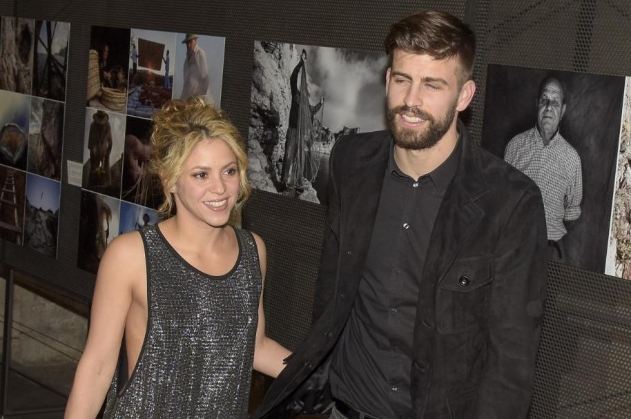 La cantante Shakira y su esposo Gerard Piqué, futbolista del Barcelona.