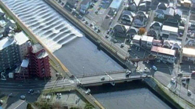 Caudal de río se devolvió luego del tsunami que golpeó a Japón