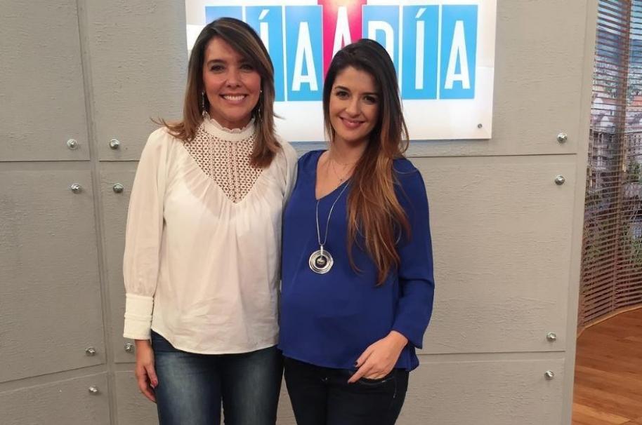 Mónica Rodríguez y Sandra Posada, presentadoras de 'Día a día'.