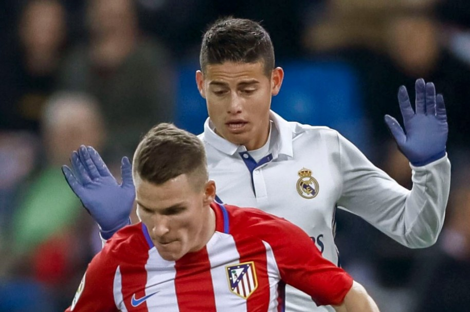 James Rodríguez contra Atlético de Madrid