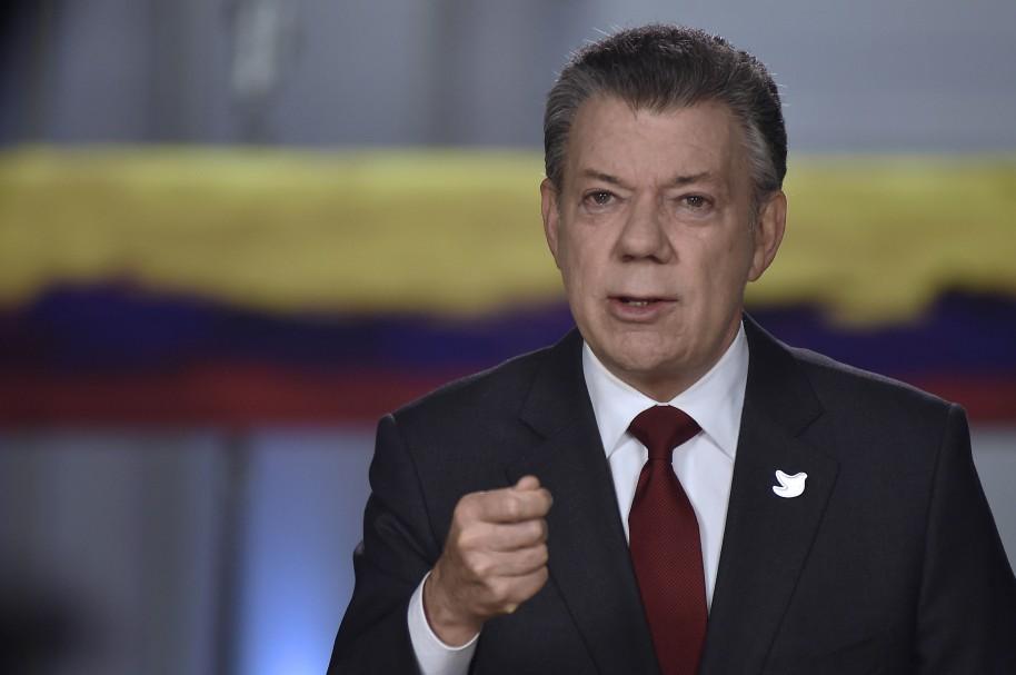 Juan Manuel Santos durante una alocución