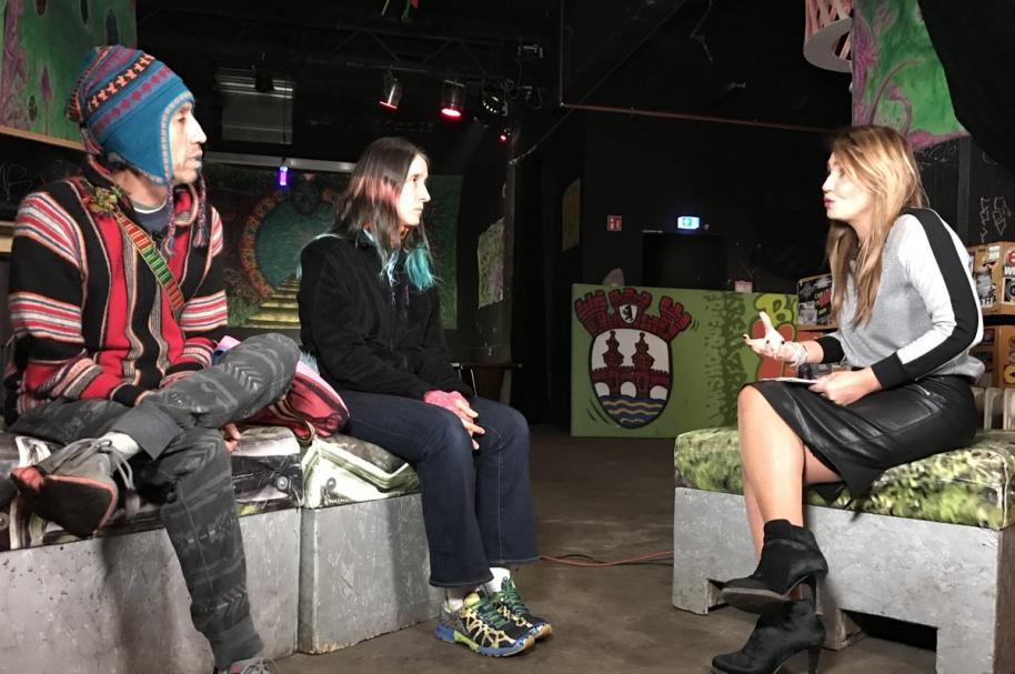 Héctor Buitrago y Andrea Echeverri dialogan con la periodista Pía Castro