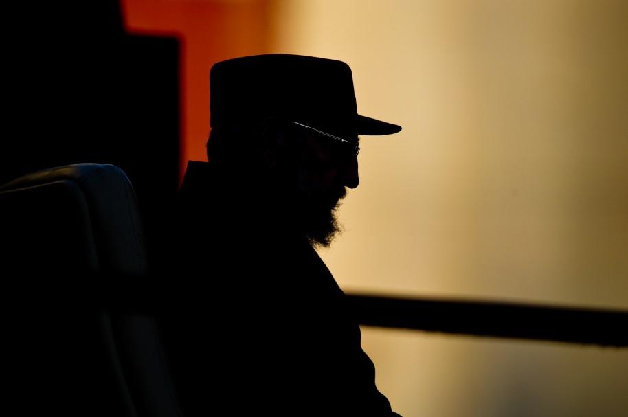 Fidel Castro da un discurso en la Universidad de La Habana, 2010
