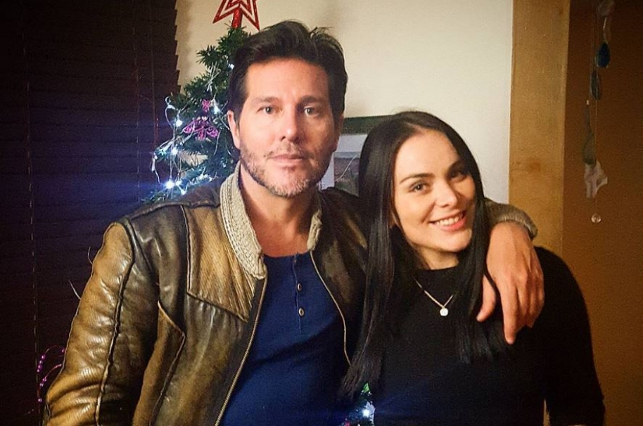 Marcelo Cezán, presentador, actor y cantante, junto a su novia Michelle Gutty, bailarina.