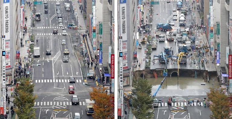 Hueco calle en Japón